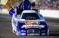 Feb. 18, 2012; Chandler, AZ, USA; NHRA funny car driver Matt Hagan during qualifying for the Arizona Nationals at Firebird International Raceway. Mandatory Credit: Mark J. Rebilas-