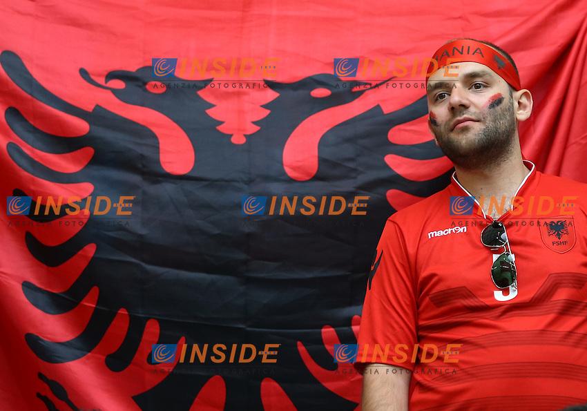 Albania supporters in the stands Tifosi <br /> Marseille 15-06-2016 Stade Velodrome Footballl Euro2016 France - Albania / Francia - Albania Group Stage Group A. Foto Matteo Ciambelli / Insidefoto