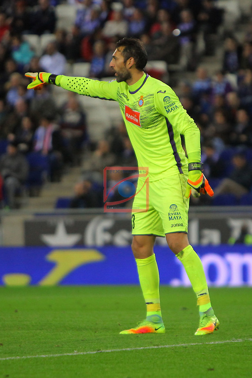 League Santander 2016/2017. Game: 13.<br /> RCD Espanyol vs CD Leganes: 3-0.<br /> Diego Lopez.
