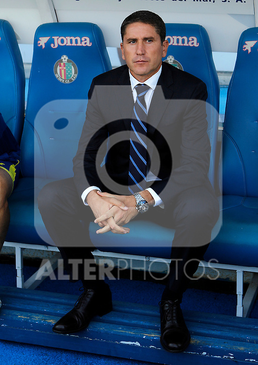 Villareal's coach Juan Carlos Garrido during La Liga match.October 15,2011. (ALTERPHOTOS/Acero)