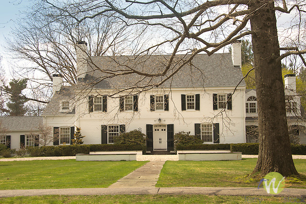 Colonial style house, Litchfield, CT.