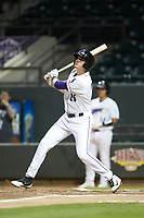 Craig Dedelow (26) of the Winston-Salem Dash follows through on his swing against the Lynchburg Hillcats at BB&T Ballpark on May 9, 2019 in Winston-Salem, North Carolina. The Dash defeated the Hillcats 4-1. (Brian Westerholt/Four Seam Images)