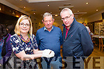 At The 1916 roadshow in Kerins O'Rahilly's Clubhouse on Saturday were L-r  Sarah Farrell, Kerry County Museum, holding a bullet from the 1916 up raising, Mike Joe Quilter, Causeway and Seamus Buckley, Causeway.