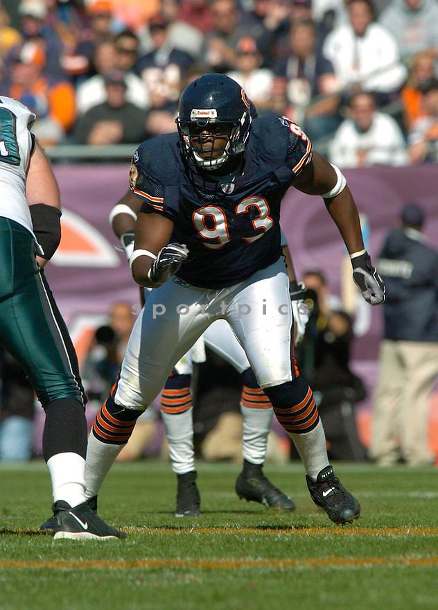 Ogunleye Adewale during the Chicago Bears v. Philadelphia Eagles game on September 3, 2004..David Durochik/ SportPics
