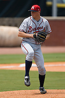 Mississippi starting pitcher Matt Harrison (26) in action versus Chattanooga at AT&T Field in Chattanooga, TN, Wednesday, July 25, 2007.