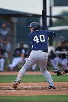 AZL Padres 2 Michael Cantu (40) at bat during an Arizona League game against the AZL White Sox on June 29, 2019 at Camelback Ranch in Glendale, Arizona. The AZL Padres 2 defeated the AZL White Sox 7-3. (Zachary Lucy/Four Seam Images)