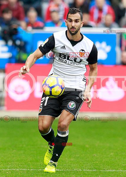 Valencia CF's Martin Montoya during La Liga match. October 28,2017. (ALTERPHOTOS/Acero) /NortePhoto.com