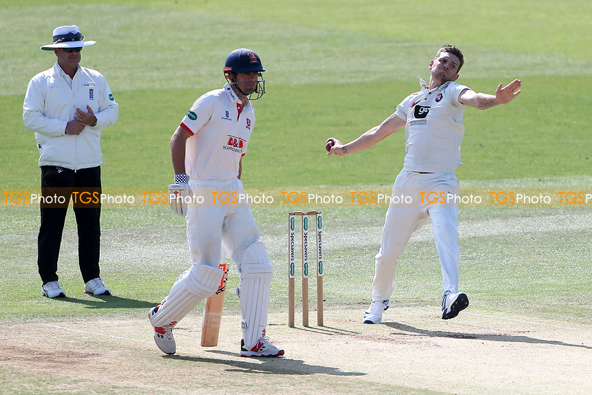 Harry Podmore in bowling action for Kent during Kent CCC vs Essex CCC, Specsavers County Championship Division 1 Cricket at the St Lawrence Ground on 20th August 2019
