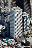 aerial photograph of Hartford Building 650 California Street San Francisco office tower and  Old Saint Mary's Church