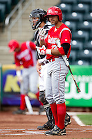 Jason Leblebijian (13) of the Bradley Braves prepares to go to bat during a game against the Missouri State Bears on May 13, 2011 at Hammons Field in Springfield, Missouri.  Photo By David Welker/Four Seam Images