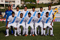 Guatemala lines up during the group stage of the CONCACAF Men's Under 17 Championship at Jarrett Park in Montego Bay, Jamaica. Trinidad & Tobago defeated Guatemala, 1-0.