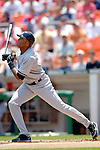17 June 2006: Bernie Williams, outfielder for the New York Yankees, in action against the Washington Nationals at RFK Stadium, in Washington, DC. The Nationals overcame a seven run deficit to win 11-9 in the second game of the interleague series...Mandatory Photo Credit: Ed Wolfstein Photo...
