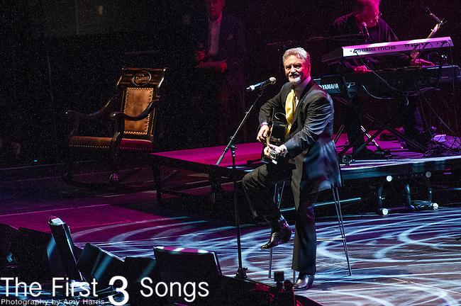 "Larry Gatlin performs at the George Jones Tribute Concert ""Playin' Possum: The Final No Show"" at Bridgestone Arena in Nashville, TN"