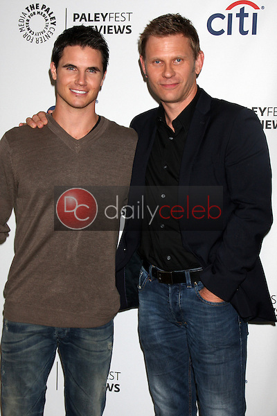 """Robbie Amell, Mark Pellegrino<br /> at the PaleyFest Previews:  Fall TV CW - """"The Tomorrow People,"""" Paley Center for Media, Beverly Hills, CA 09-07-13<br /> David Edwards/Dailyceleb.com 818-249-4998"""