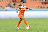 Houston, TX - Wednesday June 28, 2017: Carli Lloyd looks to pass the ball during a regular season National Women's Soccer League (NWSL) match between the Houston Dash and the Boston Breakers at BBVA Compass Stadium.