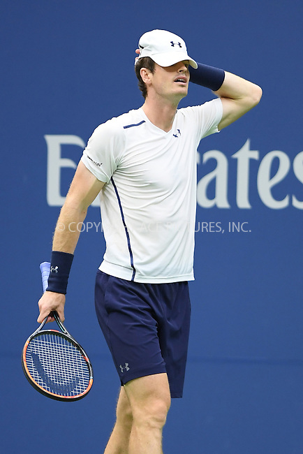 www.acepixs.com<br /> <br /> September 7 2016, New york City<br /> <br /> Andy Murray of Great Britain plays Kei Nishikori of Japan during their Men's Singles Quarterfinal match on Day Ten of the 2016 US Open at the USTA Billie Jean King National Tennis Center on September 7, 2016 in New York City<br /> <br /> By Line: Solar/ACE Pictures<br /> <br /> ACE Pictures Inc<br /> Tel: 6467670430<br /> Email: info@acepixs.com<br /> www.acepixs.com