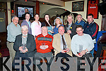 Recipients of prizes for taking part in this years St Patrick day parade in Tralee were pictured in the AbbeyInn,Tralee last Monday evening(seated)L-R Johnny Wall(Chairman of the parade organisers)Danny Leane(vice chairman)Tommy Collins(3rd,save the green float)and Brendan O'Brien(1st,tidy towns float).Back L-R Sean Lyons(parade committee)Bobby Leane&Ann O'Shea(parade stewards)Celene Moloney(2nd,Boherbue residents float)Margaret Humphries(save the green)Michael Gaffney(2nd,shop window category)Martin Brosnan(steward)and Bernard Lynch(tidy towns float).