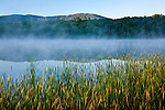 Mount Monadnock reflected in a misty Dublin Lake in Dublin, NH, USA