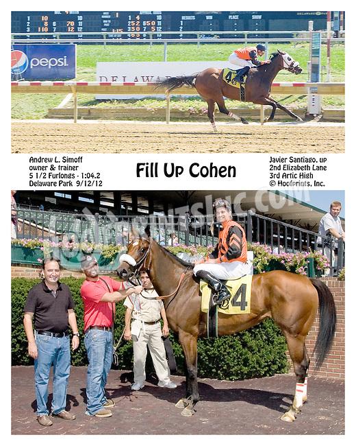 Fill Up Cohen winning at Delaware Park on 9/12/12