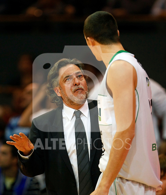 DKV Juventud's coach Pepu Hernandez during ACB match.October 17,2010. (ALTERPHOTOS/Acero)