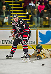 17 December 2013:  Northeastern University Huskies Forward Mike McMurtry, a Sophomore from Greely, Ontario, in first period action against the University of Vermont Catamounts at Gutterson Fieldhouse in Burlington, Vermont. The Huskies shut out the Catamounts 3-0 to end UVM's 5 game winning streak. Mandatory Credit: Ed Wolfstein Photo *** RAW (NEF) Image File Available ***