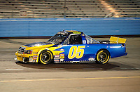 Nov. 13, 2009; Avondale, AZ, USA; NASCAR Camping World Truck Series driver Wayne Edwards during the Lucas Oil 150 at Phoenix International Raceway. Mandatory Credit: Mark J. Rebilas-