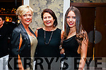 Kerina Dowling, Anne Moran and Cliona Hayes, pictured at the Kerins O'Rahilly's social held at Fels Point Hotel, Tralee on Saturday night last