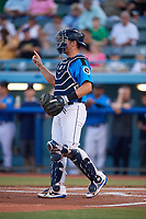 Hudson Valley Renegades catcher Chris Betts (26) during a game against the Tri-City ValleyCats on August 24, 2018 at Dutchess Stadium in Wappingers Falls, New York.  Hudson Valley defeated Tri-City 4-0.  (Mike Janes/Four Seam Images)