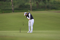 Hyejin Choi (KOR) in action on the 1st during Round 2 of the HSBC Womens Champions 2018 at Sentosa Golf Club on the Friday 2nd March 2018.<br /> Picture:  Thos Caffrey / www.golffile.ie<br /> <br /> All photo usage must carry mandatory copyright credit (&copy; Golffile | Thos Caffrey)