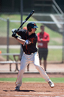 San Francisco Giants Black catcher Trevor Brown (40) at bat during an Extended Spring Training game against the Los Angeles Angels at the San Francisco Giants Training Complex on May 25, 2018 in Scottsdale, Arizona. (Zachary Lucy/Four Seam Images)