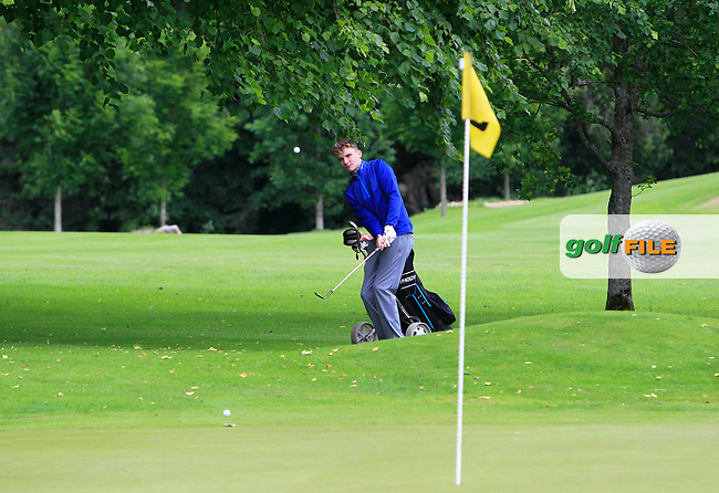 Brian McGuinness (Claremorris) on the 15th during Round 1 of the 2016 Leinster Boys Amateur Open Championship at Mullingar Golf Club on Tuesday 21st June 2016.<br /> Picture:  Golffile | Thos Caffrey