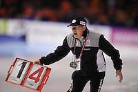 SCHAATSEN: HEERENVEEN: IJsstadion Thialf, 11-01-2013, Seizoen 2012-2013, Essent ISU EK allround, Wim den Elsen (trainer/coach KIA Speedskating Academy), ©foto Martin de Jong