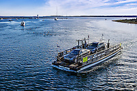 Chappaquiddick ferry to Edgardtown, Martha's Vineyard, Massachusetts, USA