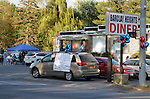 Scene at the 1st Vintage Car Night event at the Barclay Heights Diner, in the Barclay Heights area of Saugerties, NY on Wednesday May 13, 2015. Photo by Jim Peppler. Copyright Jim Peppler 2015.