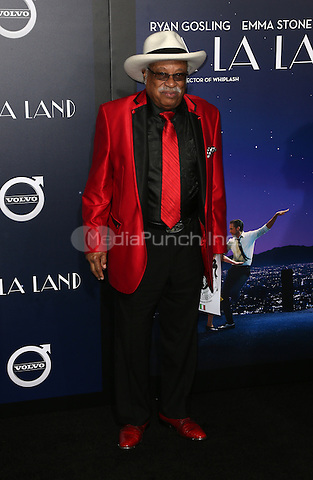 "Westwood, CA - DECEMBER 06: Clifton 'Fou Fou' Eddie, At Premiere Of Lionsgate's ""La La Land"" At Mann Village Theatre, California on December 06, 2016. Credit: Faye Sadou/MediaPunch"