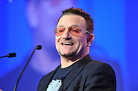 Bono addresses the EPP Congress in the Dublin Conference Centre on Friday.<br /> Picture by Sally MacMonagle<br /> <br /> <br /> Photo from EPP congress repro free