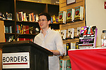 Emmy-winning OLTL scribe Chris Van Etten and his friends author of Red Carpet Riot on August 15, 2009 at Borders, Time Warner Center Mall, New York City, New York. (Photo by Sue Coflin/Max Photos)