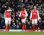 Arsenal's Danny Welbeck looks on dejected after Tottenham's opening goal<br /> <br /> Barclays Premier League- Tottenham Hotspurs vs Arsenal  - White Hart Lane - England - 7th February 2015 - Picture David Klein/Sportimage