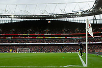 7th March 2020; Emirates Stadium, London, England; English Premier League Football, Arsenal versus West Ham United; Michail Antonio of West Ham United with a long throw \