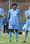 12 November 2008: UNC's Sheanon Williams. The University of Maryland defeated the University of North Carolina 1-0 at Koka Booth Stadium at WakeMed Soccer Park in Cary, NC in a men's ACC tournament quarterfinal game.