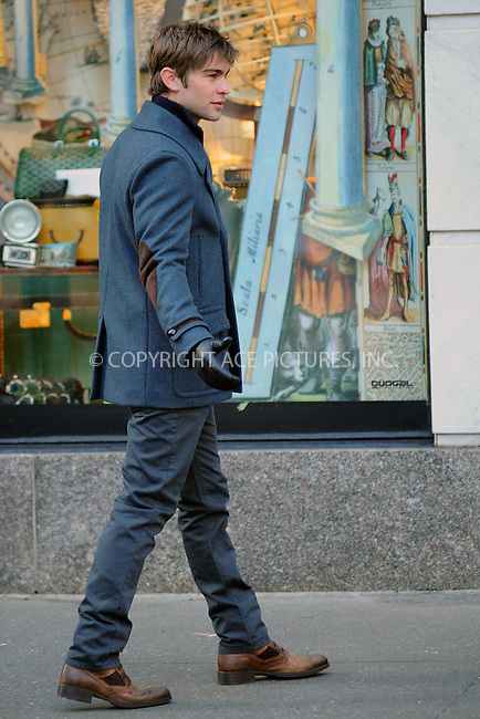 WWW.ACEPIXS.COM . . . . . .January 4, 2011, New York City....Chase Crawford on the set of Gossip Girl on January 4, 2011 in New York City....Please byline: KRISTIN CALLAHAN - ACEPIXS.COM.. . . . . . ..Ace Pictures, Inc: ..tel: (212) 243 8787 or (646) 769 0430..e-mail: info@acepixs.com..web: http://www.acepixs.com .