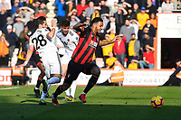 Joshua King of AFC Bournemouth is fouled by Joao Moutinho of Wolverhampton Wanderers and a penalty is given during AFC Bournemouth vs Wolverhampton Wanderers, Premier League Football at the Vitality Stadium on 23rd February 2019