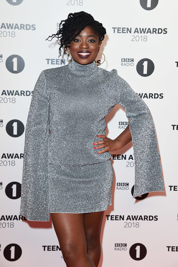 Clara Amfo<br /> arriving for the Radio 1 Teen Awards 2018 at Wembley Stadium, London<br /> <br /> ©Ash Knotek  D3454  21/10/2018