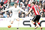Real Madrid's Cristiano Ronaldo (l) and Athletic de Bilbao's Oscar de Marcos during La Liga match. February 13,2016. (ALTERPHOTOS/Acero)