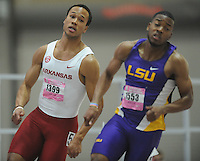 NWA Democrat-Gazette/ANDY SHUPE<br /> Arkansas competes in the Saturday, Feb. 11, 2017, during the Tyson Invitational in the Randal Tyson Track Center in Fayetteville. Visit nwadg.com/photos to see more photographs from the meet.