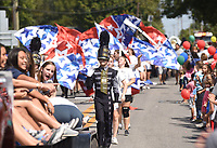 NWA Democrat-Gazette/FLIP PUTTHOFF<br />CENTERTON DAY PAGEANTRY<br />Bentonville West High School marching band heads down Main Street in Centerton on Saturday Sept. 9 2017 during the Centerton Day parade, part of the annual Centerton Day. Activities included a 5-kilometer run, pancake breakfast, tiny tot pageant, dunk tank, fish from and more at Centerton city park and other venues around the city.