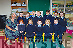 Junior Infants from Coolick NS Kilcummin with their teacher Fiona O'Donoghue on their first day of school on Wednesday front row l-r: Aoife McSweeney, Zoe O'Sullivan, Jamie and Caoimhe Scanlon, Dara O'Keeffe. Back row: Saffron McCArthy, John Leahy, Benjamin O'Leary, Rory Leane, Dylan O'Sullivan and Roisin Goff