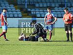 Drogheda United captain Sean Brennan is injured. Photo:Colin Bell/pressphotos.ie