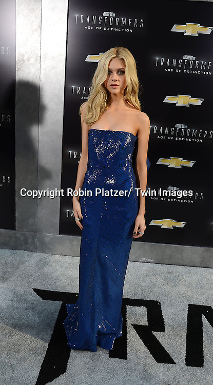"Nicola Peltz attends the US Premiere of ""Transformers: Age of Extinction"" on June 25, 2014 at The Ziegfeld Theatre in New York City, New York, USA."