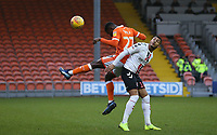 Charlton Athletic's Karlan Ahearne-Grant and Blackpool's Marc Bola<br /> <br /> Photographer Stephen White/CameraSport<br /> <br /> The EFL Sky Bet League One - Blackpool v Charlton Athletic - Saturday 8th December 2018 - Bloomfield Road - Blackpool<br /> <br /> World Copyright &copy; 2018 CameraSport. All rights reserved. 43 Linden Ave. Countesthorpe. Leicester. England. LE8 5PG - Tel: +44 (0) 116 277 4147 - admin@camerasport.com - www.camerasport.com